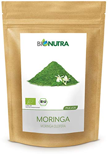 BIONUTRA® Moringa-Pulver Bio 250 g, feines Blattpulver von Moringa...