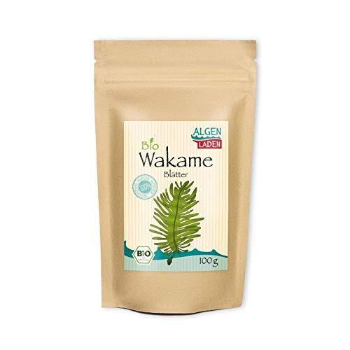 ALGENLADEN BIO Wakame Blätter - 100g   Undaria pinnatifida   Instant...