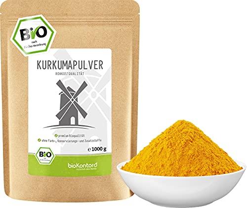 BIO Kurkuma Pulver gemahlen 1000 g / 1 kg   Kurkumapulver - Curcuma -...