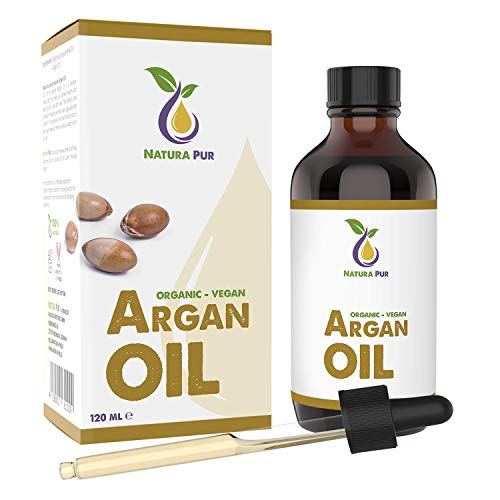 NATURA PUR Bio Arganöl 120ml - 100% nativ, kaltgepresst, vegan - aus...