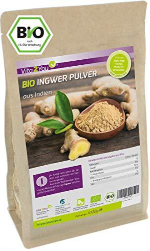 Bio Ingwer Pulver 1 kg im Zippbeutel - 100% Naturbelassen -...