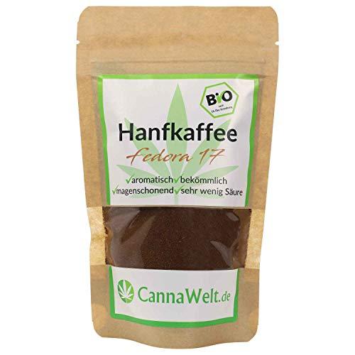 CannaWelt Bio Hanfkaffee Fedora 17 - sehr aromatisch - DE-ÖKO-039...