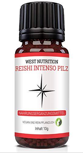 West Nutrition Reishi Intenso Pilz Globuli – geeignet für Männer,...