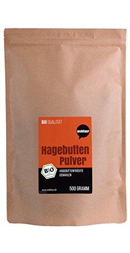 Wohltuer Bio Hagebuttenpulver (500 g)   Regelmäßige laboranalytische...
