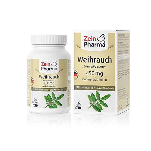 ZeinPharma Boswellia Weihrauch 120 Vegetarische Kapseln, 1er Pack (1 x...