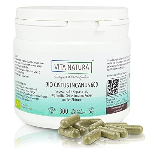 VITA NATURA Bio Cistus Incanus Kapseln - 600 mg - aus Griechenland -...