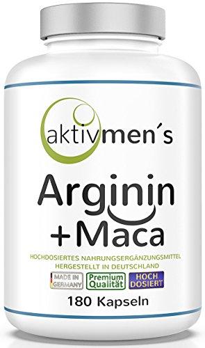 aktivmen´s Arginin + Maca hochdosiert - für stark aktive Männer,...