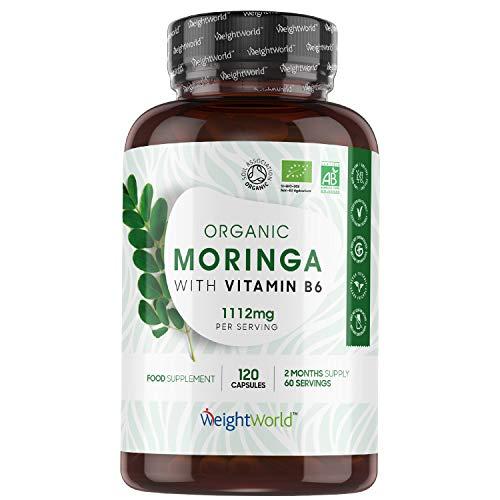 BIO Moringa Kapseln - 1100mg Moringa Oleifera - Superfood mit...