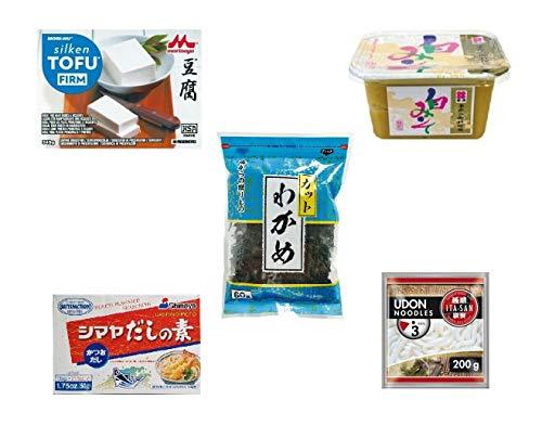 Pamai Pai® Miso Suppe Set 5tlg. Starterset Wakame Algen Miso Paste...