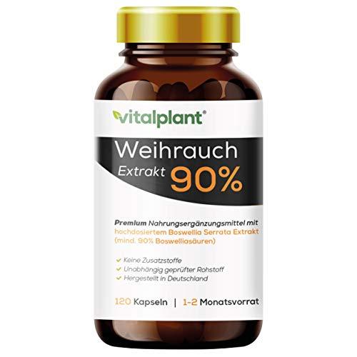 Vitalplant® Weihrauchkapseln hochdosiert im Braunglas - 600mg...