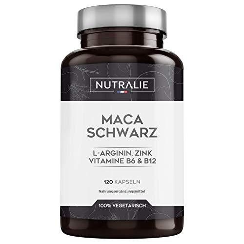 Maca Schwarz aus Peru 24.000mg pro Dosis mit L-Arginin, Zink und...