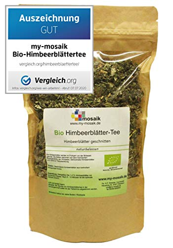 my-mosaik Bio Himbeerblättertee - 100% naturbelassen, geschnitten,...