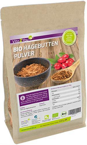 Bio Hagebuttenpulver 500g - 100% Ökologischer Anbau -...