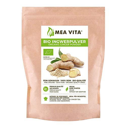 MeaVita Bio Ingwerpulver, 100% rein, 1er Pack (1x 250g)