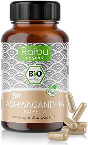 Raibu® Ashwagandha Kapseln BIO (270 x 665mg) Entspricht 1995mg pro...