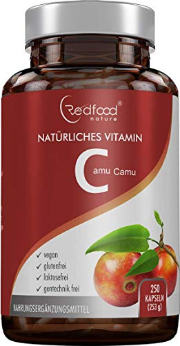 REDFOOD® Camu Camu Extrakt 600mg natürliches Vitamin C Hochdosiert...