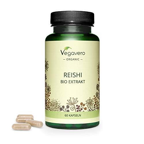 BIO Reishi Kapseln Vegavero ® | 500 mg Reishi Extrakt – entspricht...