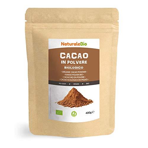 Kakao Pulver Bio 400 g. Organic Cacao Powder. 100% Natürlich, Rein...