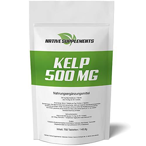 Kelp 500 mg Hochdosiert - XXL Bulk Pack - 750 Tabletten, 2-fache Menge...