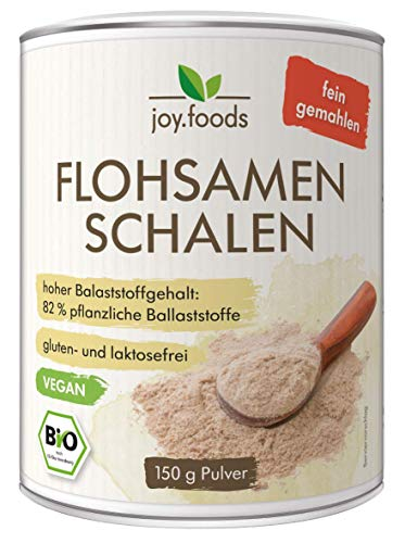 joy.foods Bio Flohsamenschalenpulver, fein gemahlen,...