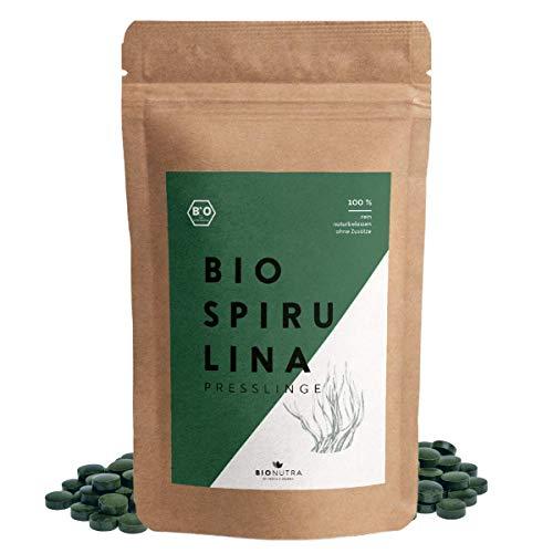 BIONUTRA® Spirulina-Presslinge Bio 1000 x 250 mg Tabletten, 100% rein...