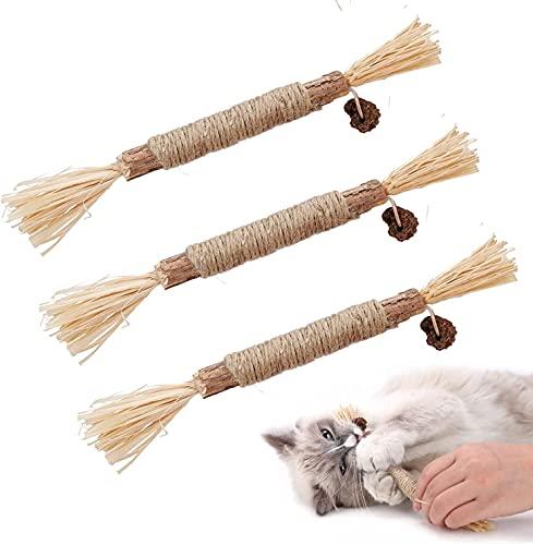 Dorakitten Katzenminzen Sticks, 3X Katzenminze Spielzeug Matatabi...