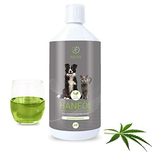 Nutrani Hanföl für Hunde | 1 Liter kaltgepresst – Natürliches...