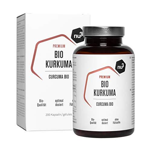 Bio Kurkuma Kapseln - 200 Stück - Premium hochdosierte vegane Curcuma...