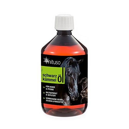 mituso Schwarzkümmelöl 500ml für Hunde & Pferde, kaltgepresst &...
