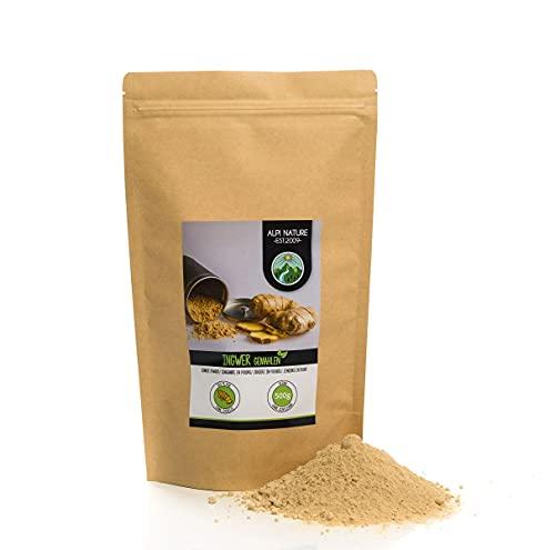 Ingwerpulver (500g), Ingwer gemahlen, 100% naturrein, schonend...