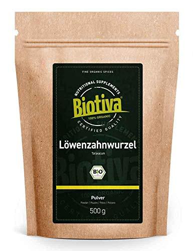 Biotiva Löwenzahnwurzel gemahlen Bio 500g - Taraxacum officinale -...