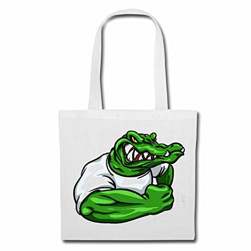 Tasche Umhängetasche KROKODIL Alligator IM MUSKELSHIRT Bodybuilding...