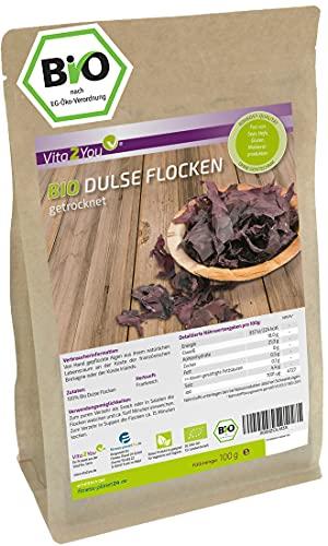 Dulse Flocken Bio - 100g - getrocknet - Lappentang - Aus Frankreich -...