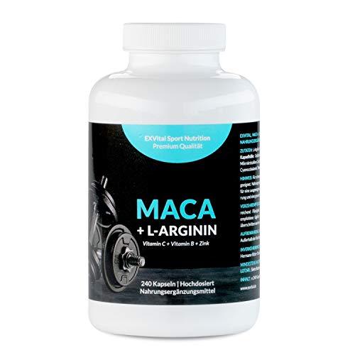 Maca Kapseln 1000 mg + L-Arginin 1800 mg + Vitamine + Zink,...
