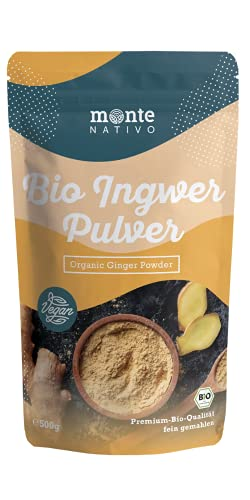 Monte Nativo 100% Bio Ingwerpulver (500g)- Ohne Zusatzstoffe - Premium...