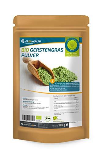FP24 Health Bio Gerstengras Pulver 1000g - Rückstandskontrolliert -...