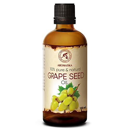 Traubenkernöl Raffiniert 100ml - Vitis Vinifera - Traubenöl 100%...