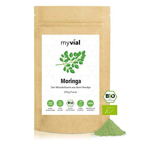 myvial® Moringa Pulver Bio 250g | feines Blattpulver von Moringa...