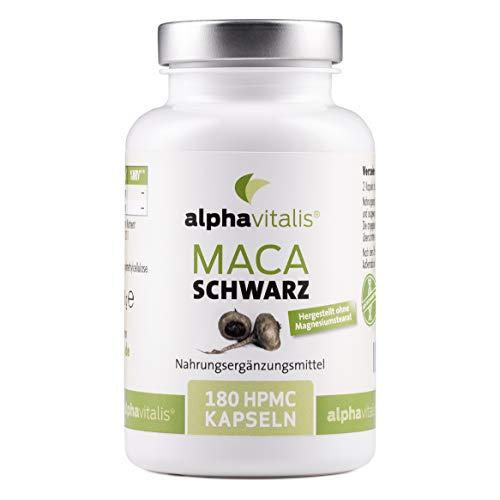 Maca Schwarz 4000 mg je Tagesdosis- 180 Maca Kapseln - Maca Extrakt...