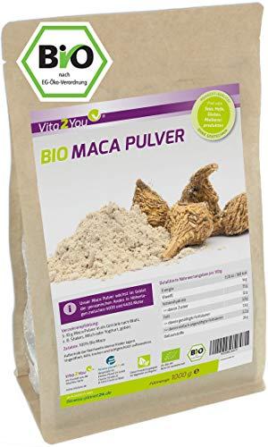 Maca Pulver 1kg - Bio Qualität - Maca-Wurzel - ganze Knolle gemahlen...