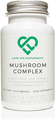 Love Life Supplements - Vitalpilz Komplex mit 5 Pilzen, Reishi, Chaga,...