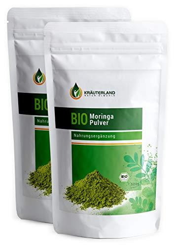 Kräuterland Bio Moringa Pulver 1000g - 100% rein in Premiumqualität...
