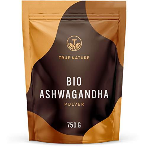 TRUE NATURE® Bio Ashwagandha Pulver - 750g - REINE Withania Somnifera...