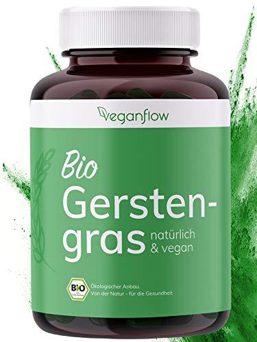 veganflow® BIO Gerstengras Kapseln, hochdosiert mit 3000mg je...