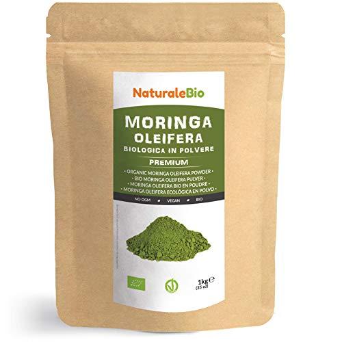 Moringa Oleifera Bio Pulver [ Premium-Qualität ] 1kg. Organic Moringa...