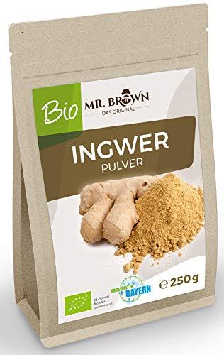 Mr. Brown BIO Ingwerpulver 250 g | aus kontrolliert biologischem Anbau...