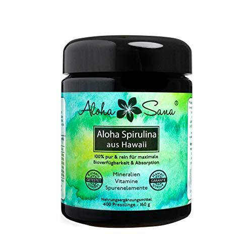 Aloha Sana  - Hawaii Spirulina Pacifica Algen 400 Presslinge a 400 mg,...