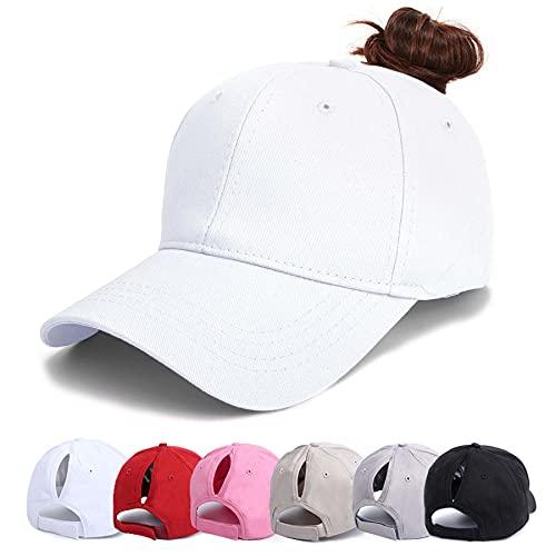 VIKEY Baseball Cap Damen - Kappe Unisex Basecap Pferdeschwanz Waschbar...