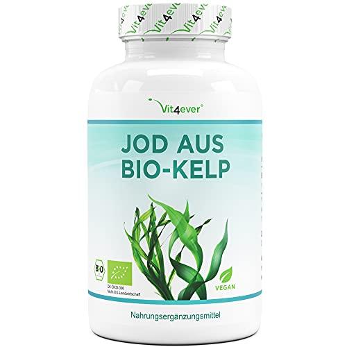 Bio Kelp (Natürliches Jod) - 365 Tabletten mit je 200µg Jod aus...