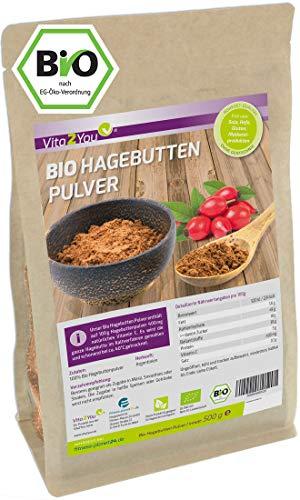 Hagebuttenpulver Bio 500g - Rosa Canina - 100% Ökologischer Anbau -...